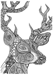 adult-coloring-pages-deer