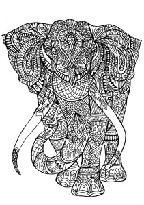 adult-coloring-pages-elephant
