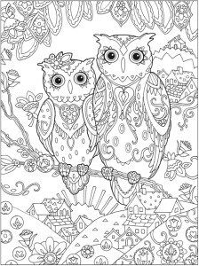 Adult-Coloring-pages-owls