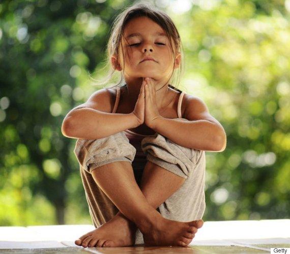 kids meditate