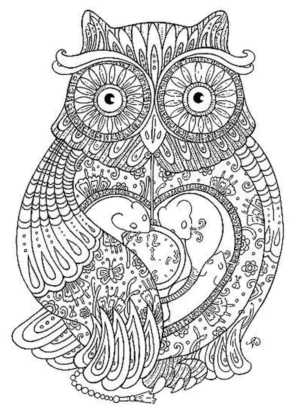 Coloring pictures free printable adult -  Full_6131_154881_craftsycoloringpagesinspiringquotes_1 Owl Coloring Pages For Adults