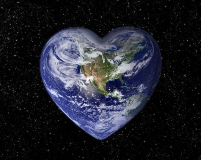 [Heart-shaped earth]