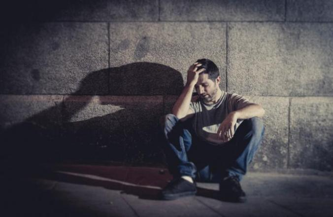 [depressed man]