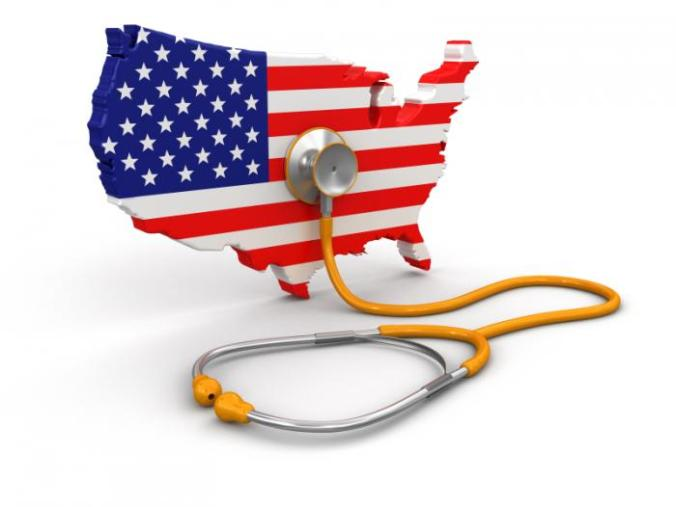 [flag and stethoscope]